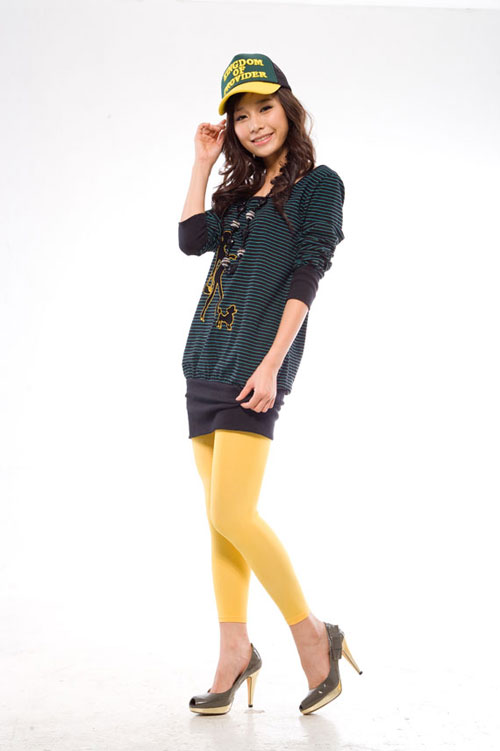Legging 100D in yellow