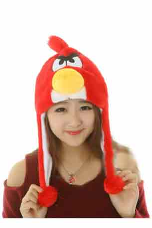 Angry Bird Hat  - Red